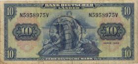 R.259a 10 DM 1949 BDL B-Stempel (3-)