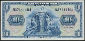 R.259a 10 DM 1949 BDL B-Stempel (3+)