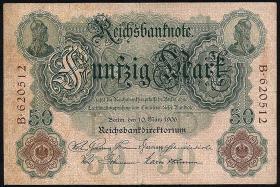R.025a 50 Mark 1906  6-stellig (3+)