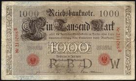 R.026 1000 Mark 1906 (3-)