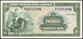 R.260 20 DM 1949 Bank Deutscher Länder  (3+)