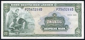 R.260 20 DM 1949 Bank Deutscher Länder (2-)