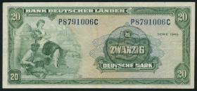 R.261 20 DM 1949 BDL B-Stempel (3)