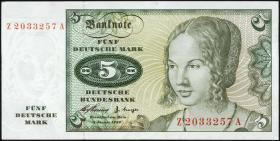 R.262f 5 DM 1960 Ersatznote (2)