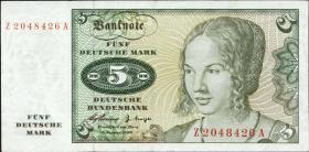 R.262f 5 DM 1960 Ersatznote (3)