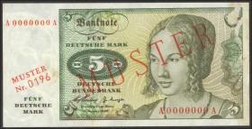 R.262M 5 DM 1960 MUSTER (1-)