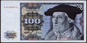 R.266d 100 DM 1960 Ersatznote (2)