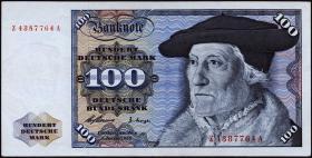 R.266d 100 DM 1960 Ersatznote (2+)