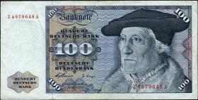 R.266d 100 DM 1960 Ersatznote (3)
