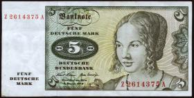R.269b 5 DM 1970 Ersatznote (3+)