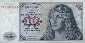 R.270c 10 DM 1970 YC Ersatznote (1/1-)