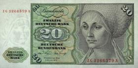 R.271c 20 DM 1970 ZG Ersatznote (2/1)