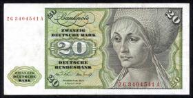R.271c 20 DM 1970 ZG/A Ersatznote (3)