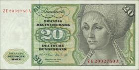 R.271d 20 DM 1970 ZE Ersatznote (3)