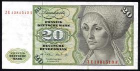 R.271d 20 DM 1970 ZE/A Ersatznote (3)
