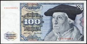 R.273c 100 DM 1970 Z Ersatznote (3+)