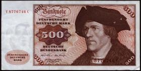 R.274a 500 DM 1970 V/D (3+)