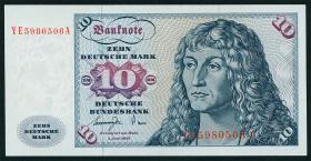 R.275b 10 DM 1977 YE-A Ersatznote (2)
