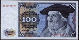 R.278b 100 DM 1977 ZE Ersatznote (3+)