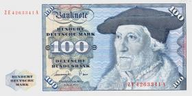 R.278b 100 DM 1977 ZE Ersatznote (1)