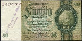 R.175g: 50 Reichsmark 1933 mit Luxemburger Stempel (1)