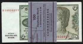 R.285a 5 DM 1980 Originalbündel (20 Stück) (1)
