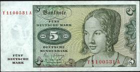 R.285b 5 DM 1980 Y Ersatznote (1)