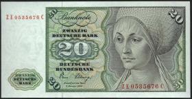 R.287b 20 DM 1980 ZE Ersatznote (1)