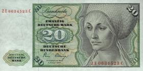 R.287b 20 DM 1980 ZE Ersatznote (3)