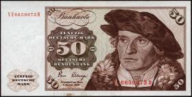 R.288b 50 DM 1980 YE/D Ersatznote (1/1-)