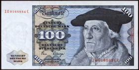 R.289b 100 DM 1980 ZE Ersatznote (2+)