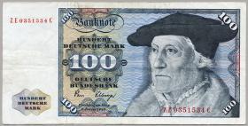 R.289b 100 DM 1980 ZE Ersatznote (3)