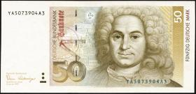 R.293b 50 DM 1989 YA Ersatznote (2)
