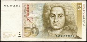 R.293b 50 DM 1989 YA Ersatznote (3)