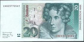 R.298b 20 DM 1991 ZA Ersatznote (1)