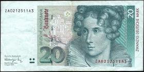 R.298b 20 DM 1991 ZA Ersatznote (3)