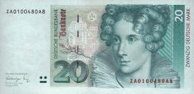 R.298b 20 DM 1991 ZA Ersatznote (2)