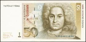 R.299b 50 DM 1991 YA/A Ersatznote (2)