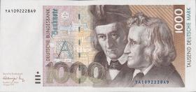 R.302b 1000 DM 1991 YA Ersatznote (1)