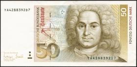 R.305b 50 Deutsche Mark 1993 YA Ersatznote (2)