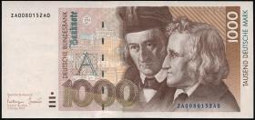 R.308b 1000 DM 1993 ZA Ersatznote (2/1)