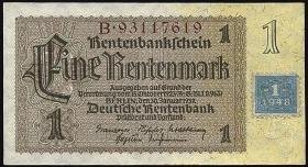 R.330F: 1 DM 1948 Kuponausgabe braune Kenn-Nummer (1)