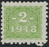 R.331 2 DM 1948 Kupon mit original Gummi (1)