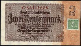 R.331b: 2 DM 1948 Kuponausgabe (1)