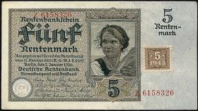 R.332a: 5 DM 1948 Kuponausgabe 7-stellig (1)