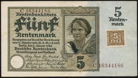 R.332F: 5 Rentenmark 1948 Kuponausgabe braune Kenn-Nummer (1/1-)