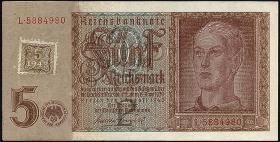 R.333a: 5 DM 1948 Kuponausgabe Hitlerjunge (1)