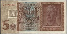 R.333b: 5 DM 1948 Kuponausgabe Hitlerjunge (1)