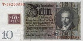 R.334a: 10 DM 1948 Kuponausgabe Serie F/T (1)