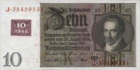 R.334a: 10 DM 1948 Kuponausgabe Serie K/J (1)